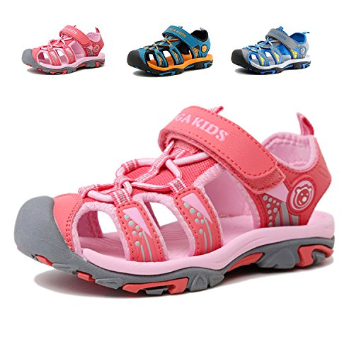Image of JACKSHIBO Girls Boys Summer Beach Breathable Athletic Closed-Toe Sandals Kids(Toddler/Little Kid/Big Kid)