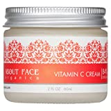 Facial Moisturizer Cruelty Free - Vitamin C Cream Hyaluronic Acid, B3 and E by About Face Organics | Daily Vitamin C for Face | 84% Organic | Paraben & Cruelty Free, 2 Ounces