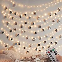 [2 Pack] Fairy String Lights, 120LED 12M/40Ft 8 Modes USB Plug in Powered Lights Waterproof Outdoor/Indoor Copper String...