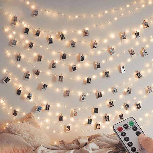 [2 Pack] Fairy String Lights, 120LED 12M/40Ft 8 Modes USB Plug in Powered Lights Waterdicht Outdoor/Indoor Koper String…