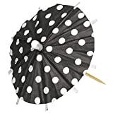 Amscan Classic Parasol Picks Perfect Parties, Picnics Everyday Use (120 Pack), 4 x 4, Black