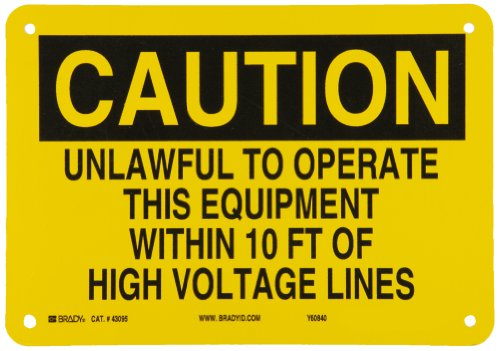 Brady 43095 Aluminum Electrical Hazard Sign, 7