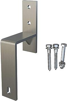 Soporte de pared de acero níquel satinado para puerta corredera ...