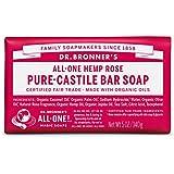 Dr. Bronner'S Magic Soaps Organic Castile Bar Soap, Rose, 5 Ounce
