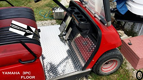 Yamaha G14 -G16-G19 G21-G22 golf cart Diamond Plate Floor Cover Kit 3 piece kit ()