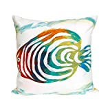 Liora Manne 7S02SA38312 Mystic III Caribbean Fish Pearl Indoor/Outdoor Pillow