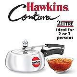 Hawkins HC20 Contura 2-Liter Pressure Cooker, Small, Aluminum