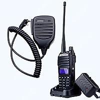 NKTECH Speaker Mic & BaoFeng UV-82 Tri-Power 8W 4W 1W VHF UHF Dual-Band 136-174/400-520MHz PTT Two Way Radio Transceiver Walkie Talkie 1800mAh 7.4V Li ion Batteries Accessories