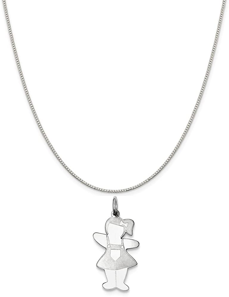 Mireval Sterling Silver Pocket Sized Cuddle Charm on a Sterling Silver Chain Necklace 16-20