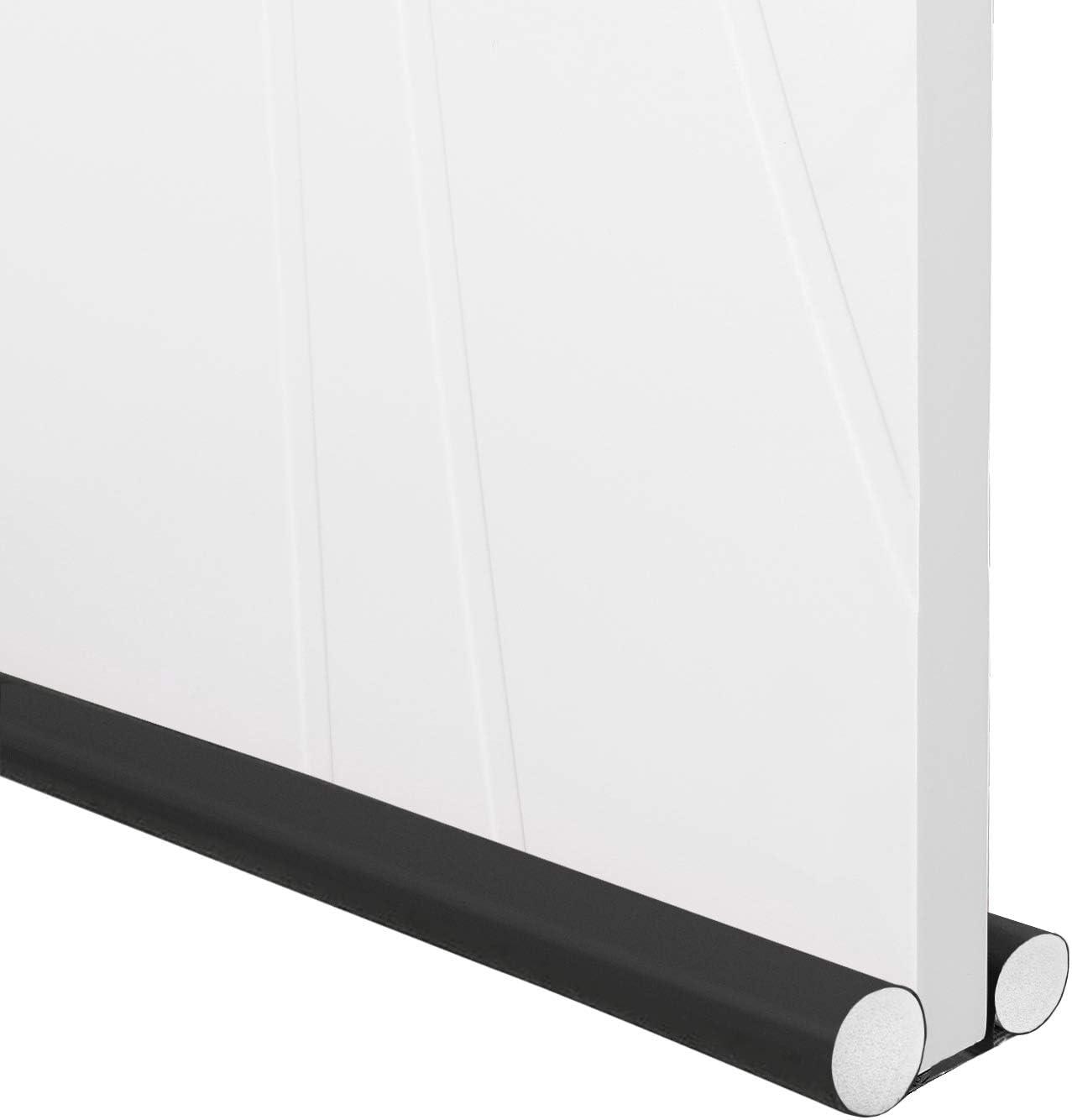 Trenect Door Draft Stopper Soundproof Noise Reduction Energy Saving Under Door Draft Stopper Adjustable Dust Proof 37 Inches Door Draft Blocker