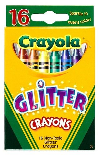 Glitter Crayon Set (Gems Sticker Fun)
