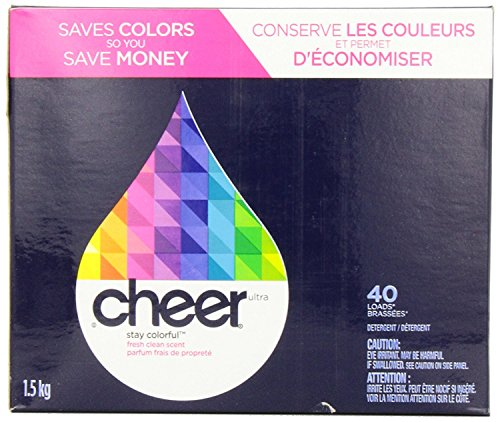 2 Pk. Cheer Powder Detergent Fresh Clean Scent 40 Loads 56 Oz (80 Loads Total) by Cheer