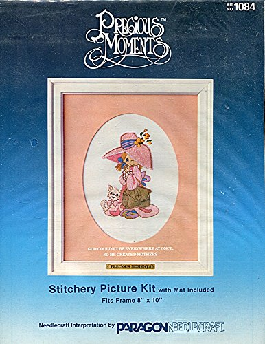 - Precious Moments Crewel Embroidery Stitchery Picture Kit with Mat 1084 God ... Created Mothers