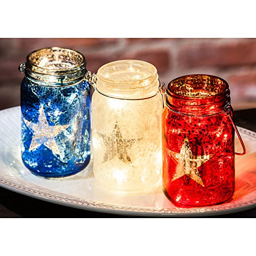 Cypress Home Americana Glass Mason Jars with String