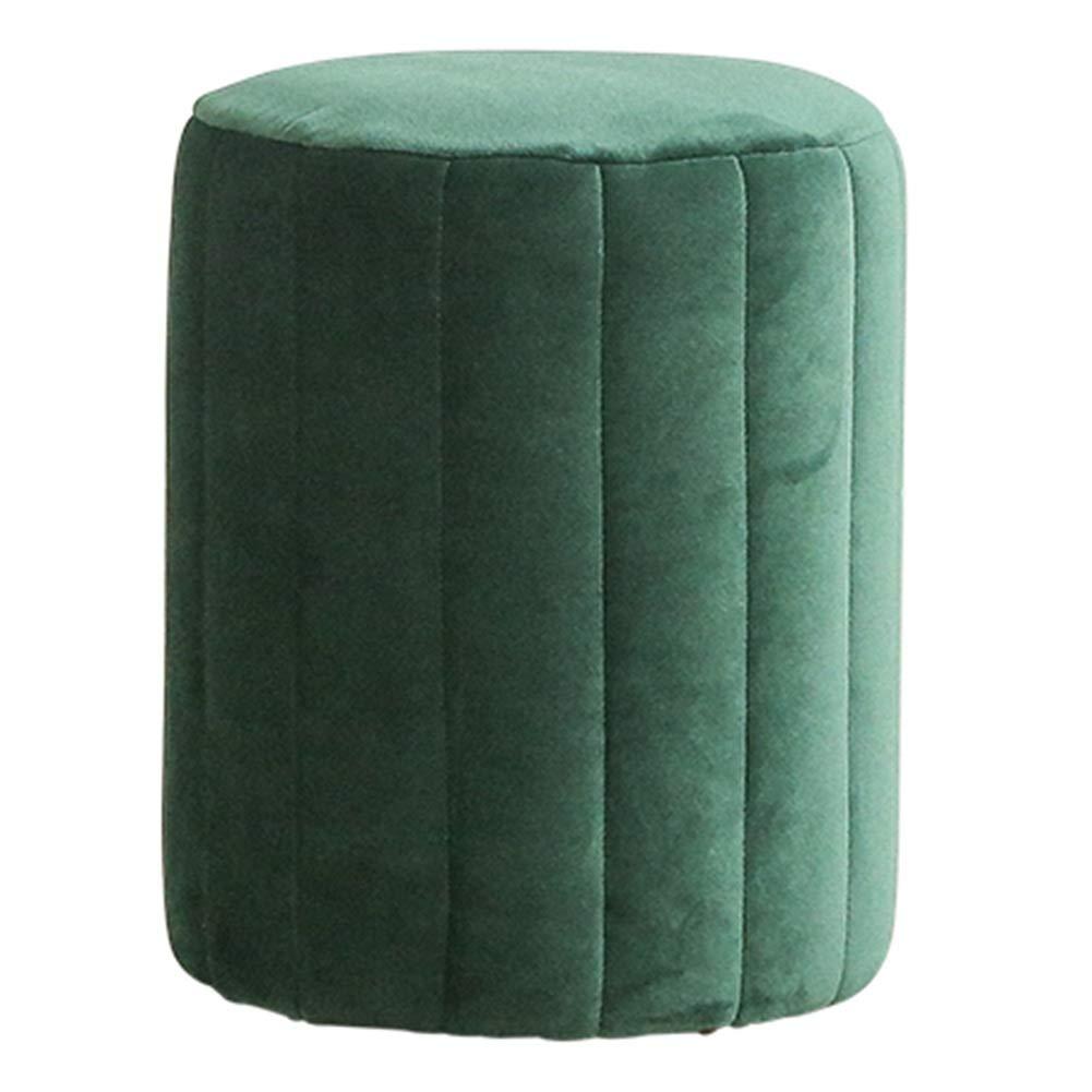 Green 3645cm WEIYV-Barstools,bar Chair Change shoes Bench Modern Simple Velvet Light Luxury Metal Sofa Footstool Stool Living Room Creative Sitting Stool Small Stool (color   Green, Size   36  45cm)