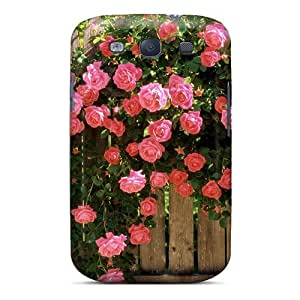 Defender Case For Galaxy S3, American Beauty Climbing Roses Pattern