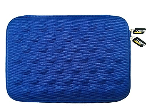 AZ-Cover 10-Inch Tablet Semi-rigid EVA Bubble Foam Case (BLUE) For DeerBrook XF-10A 10.1