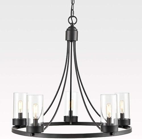 5-Light Industrial Chandelier