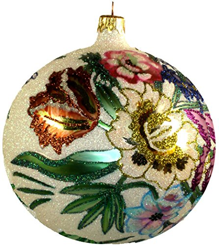 Fraga Christmas Ornament - Larry Fraga Designs Larry Fraga -SAN Diego Coast LINE - The Garden Bouquet Collection - Manufactured This Prototype is Hand-Painted by Artist Larry Fraga