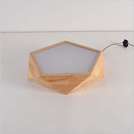 Amazon.com: PLLP - Lámpara de techo de madera maciza estilo ...