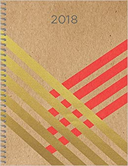 2018 gold kraft daily weekly monthly 9x11 planner