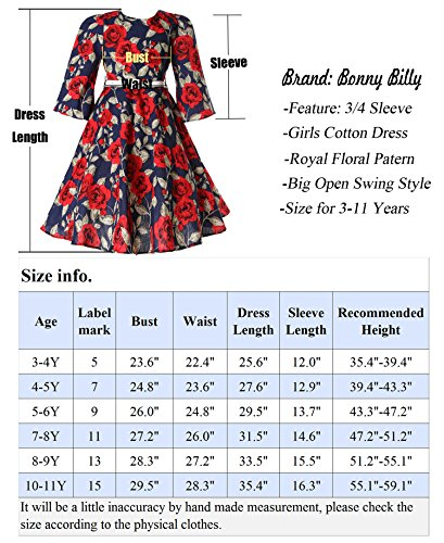 Bonny-Billy-Girls-Classy-Vintage-Floral-Swing-Kids-Party-Dresses