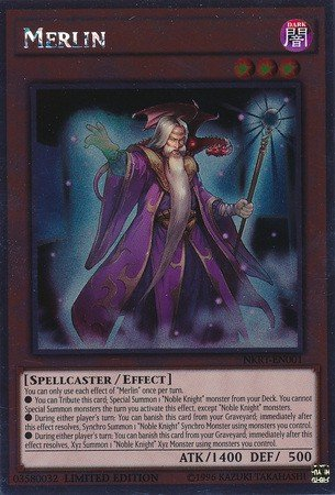 Force Of Will Knights Of The Round Table.Yu Gi Oh Merlin Nkrt En001 Noble Knights Of The Round Table 1st Edition Platinum Rare