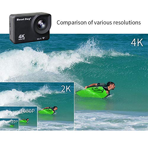 MOUNTDOG Action Camera 4K/16MP Underwater Waterproof 30M Camera with 2'' LCD Wide Angle View, 1080P Full HD Sport Camcorder with 10M WiFi Wireless Control and Portable Camera Bag by MOUNTDOG (Image #5)