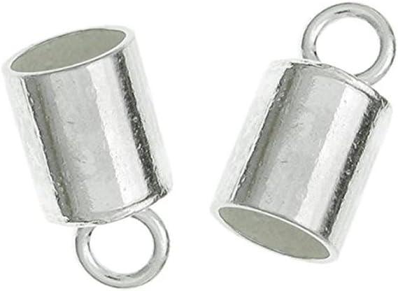 End caps caps caps for ribbons silver 10 pieces #U1622