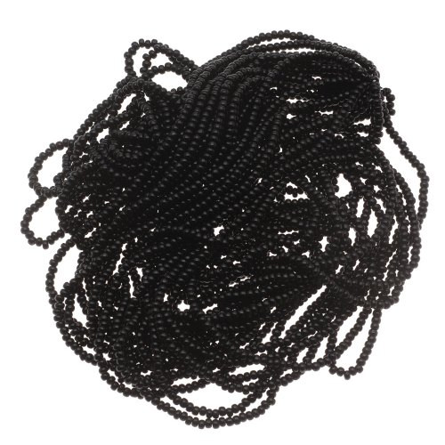 Beadaholique 1-Hank Czech Seed Beads, Size 11/0, Jet Black Opaque