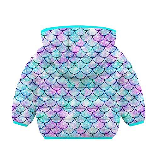 RAISEVERN Neonata 6-12 Mesi Cappotti Invernali Cappotti Cappotti Giacca Leggera Capispalla Mermaid Purple