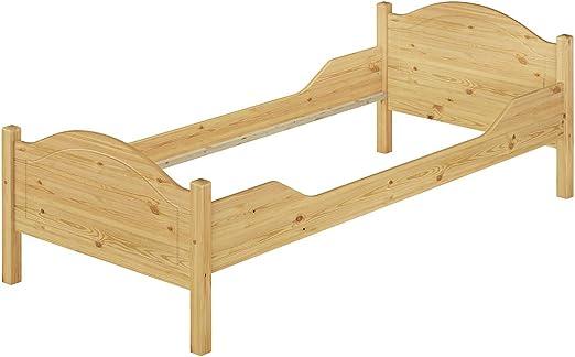 Erst Holz Massivholz Bett Kiefer Einzelbett Natur 100x200 Bettgestell Ohne Lattenrost 60 30 10or Amazon De Kuche Haushalt