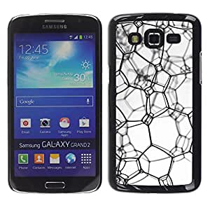 Exotic-Star ( Messy texture ) Fundas Cover Cubre Hard Case Cover para Samsung Galaxy Grand 2 II / SM-G7102 / SM-G7105