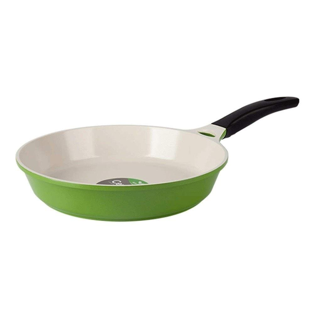 ZYK Frying Pan, Oil-free Ceramic Frying Pan, Stainless Steel Non-stick Frying Pan, Non-slip Insulated Handle Multi-function Household Frying Pan by ZYK