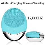 Panoraxy Silicone Sonic Facial Cleansing Brush&Facial Massaging, Anti-Aging,Deep Exfoliator,Reduce Acne&Blackhead,Upto12,000HZ Vibration,Wireless Charging&100% Waterproof Skincare Device for All Skins