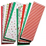 Christmas Tissue Value Pack- Prints and Solids, Set of 100 Sheets
