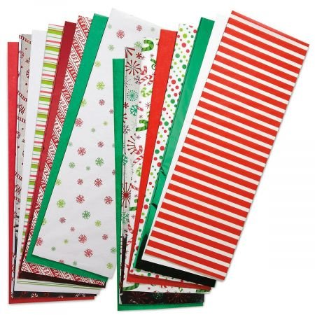 Christmas Tissue Value Pack- Prints and Solids, Set of 100 Sheets]()