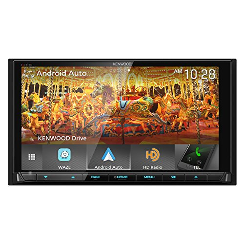 Kenwood Excelon DMX905S 6.95 WVGA Digital Multimedia Receiver with Apple CarPlay & Android Auto