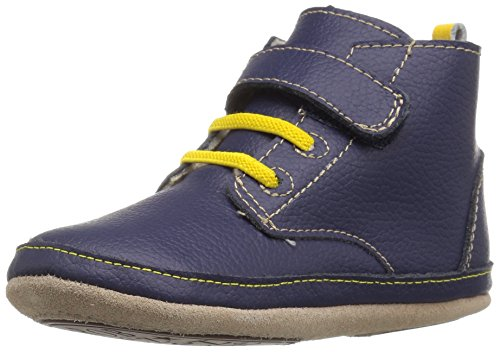 Robeez Boys' Nick Boot, Navy, 12-18 Months M US Infant