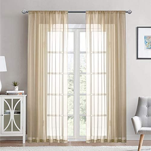 Dreaming Casa Solid Sheer Curtains 102 inches Long