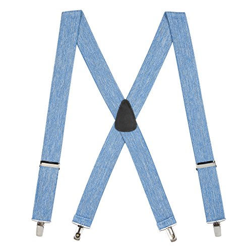 Denim Suspenders (Suspender Store Mens Denim Suspenders - 1.5 Inch Wide Clip)
