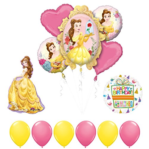 Mayflower Products Beauty and The Beast Belle Birthday Party Balloon supplies decorations -