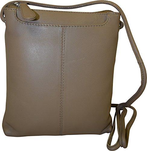 Pielino Genuine Bag Crossbody Beige Leather Women's w76wqR