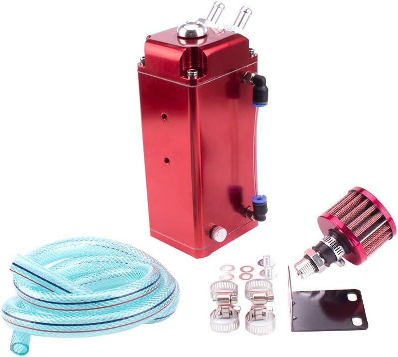 Hotaluyt Voiture de Course en Aluminium Huile R/écup/érateur R/éservoir Turbo Oil Catch Can Auto Catch Carburant Peut alimenter Catch