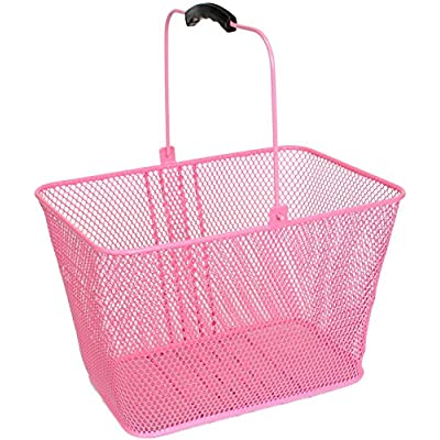 SUNLITE DLX Mesh Lift-Off Front Basket w/Bracket, Pink : Bike Baskets : Sports & Outdoors