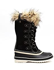 Sorel womens Sorel Ladies Joan of Arctic Waterproof Suede Boots NL1540 Black