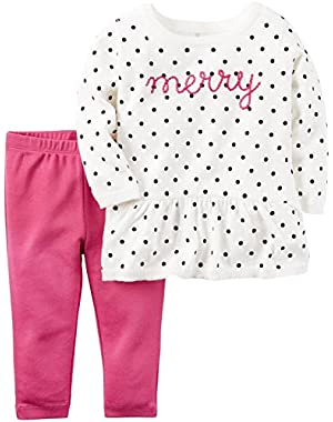 Baby Girls 2 Pc Sets, Ivory