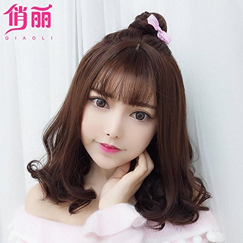 Amazon Com Korean Women Girls Female Short Hair Wig Air Bangs And