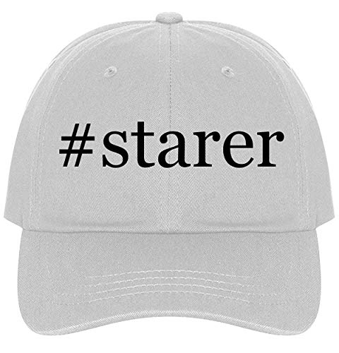 The Town Butler #Starer - A Nice Comfortable Adjustable Hashtag Dad Hat Cap, White