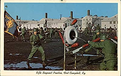 Rifle Bayonet Practice Fort Campbell, Kentucky Original Vintage Postcard